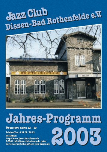 2003 - Jazz Club Dissen - Bad Rothenfelde eV