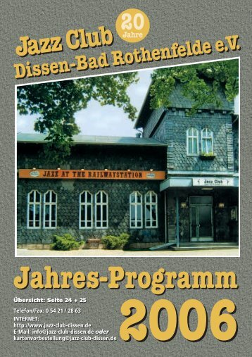 2006 - Jazz Club Dissen - Bad Rothenfelde eV