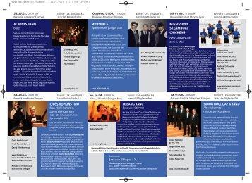 Monatsprogramm - Jazzclub Ehingen eV