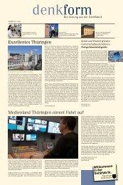 Exzellentes Thüringen Medienland Thüringen nimmt Fahrt auf