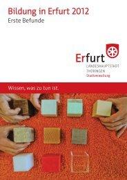 Bildung in Erfurt 2012 - Erste Befunde