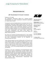 JEF Deutschland mit neuem Vorstand