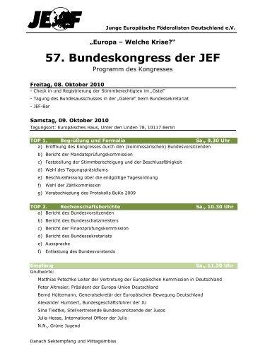 01 - 57. Buko - Aktualisierte Tagesordnung - JEF
