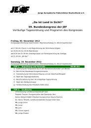 """""""Da ist Land in Sicht!"""" 59. Bundeskongress der JEF Vorläufige ..."""