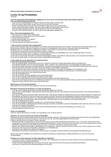 Levitra 10 mg Filmtabletten - Jenapharm