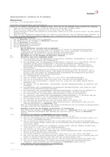 Minisiston® - Jenapharm