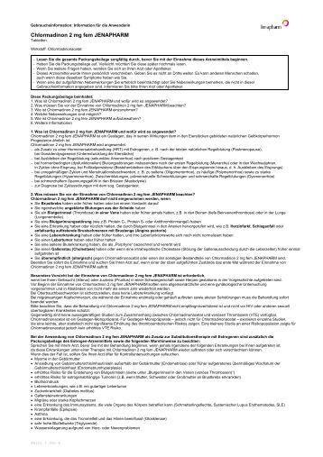 Chlormadinon 2 mg fem JENAPHARM