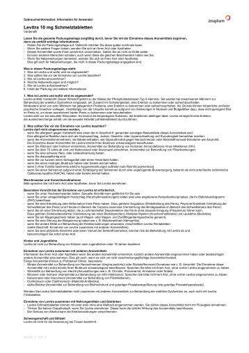 Levitra 10 mg Schmelztabletten - Jenapharm