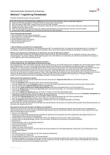 Wellnara® 1 mg/0,04 mg Filmtabletten - Jenapharm