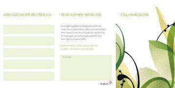 Menstruationskalender - Jenapharm