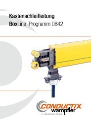 Kastenschleifleitungen Programm 0842 - Conductix-Wampfler