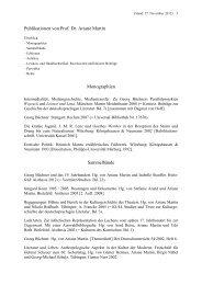 Publikationen von Prof. Dr. Ariane Martin - Johannes Gutenberg ...