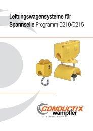Leitungswagen für Spannseile | Programm 0210/0215 - Conductix ...