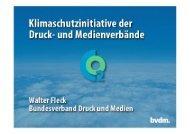 Klimaschutzinitiative der Druck- und Medienverbände