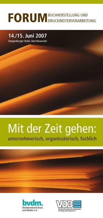 Forum Buchherstellung und Druckweiterverarbeitung 2007 - Print ...