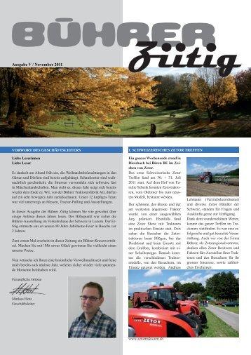Bührer Ziitig Ausgabe V - Bührer Traktorenfabrik AG