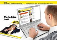 Mediadaten 2012 - New Business Verlag