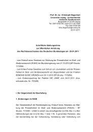Stellungnahme Prof. Dr. Christoph Degenhart - Deutscher Bundestag