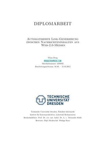 diplomarbeit - Computer Networks - Technische Universität Dresden