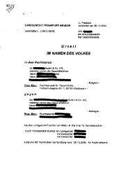 Internet-Recht. LG Frankfurt örtliche Zuständigkeit bei Webdesign im ...