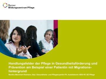Handlungsfelder der Pflege in ... - Berner Bildungszentrum Pflege