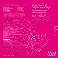 Flyer / Einladungskarte - Hartware MedienKunstVerein Dortmund