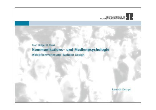 Definition Medienpsychologie - Ohm-Hochschule Nürnberg