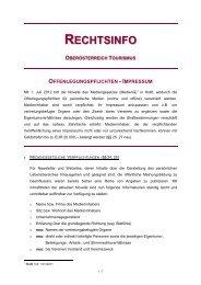 Offenlegungspflichten - Impressum - Oberösterreich Tourismus