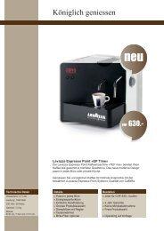 Datenblatt - CaffèRe - Lavazza Espresso Point-Vertretung