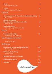 Inhaltsverzeichnis Theorie Praxis Reflexion Die Projekte im ... - JFF