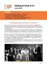 Newsletter No21 - Juni 2010 (PDF) - JFF