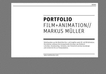 PORTFOLIO FILM+ANIMATION// MARKUS MÜLLER - studiokuskus
