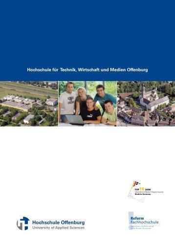 Imagebroschüre (deutsch) - an der Hochschule Offenburg