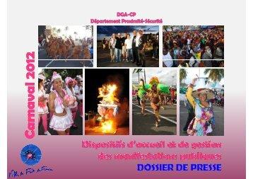 Dossier de présentation du dispositif carnaval 2012 - Fort-de-France