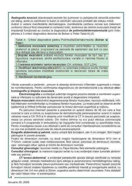Caz clinic: DERMATOMIOZITA PARANEOPLAZICA CU AFECTARE