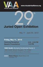 Exhibition Program - Visual Arts Alliance