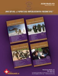 JSOM Media Kit - Journal of Special Operations Medicine