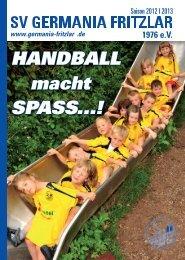 Germania Saisonheft - SV GERMANIA FRITZLAR 1976 eV