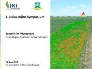 Optische Sensoren in der Landwirtschaft - Julius Kühn-Institut