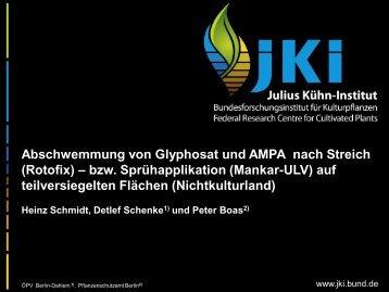 Heinz Schmidt, Detlef Schenke und Peter Boas: Abschwemmung