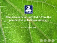 Requirements for recycled P from the perspective of fertiliser industry