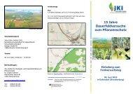 15 Jahre Dauerfeldversuche zum Pflanzenschutz - Julius Kühn-Institut