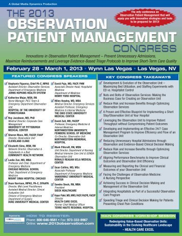 February 28 – March 1, 2013 • Wynn Las Vegas • Las Vegas, NV