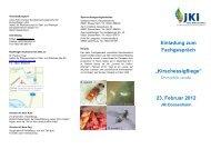 Einladung zum Fachgespräch - Julius Kühn-Institut