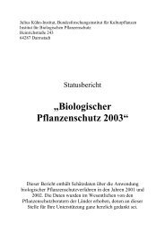"""""""Biologischer Pflanzenschutz 2003"""" - Julius Kühn-Institut"""