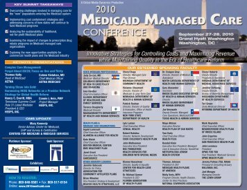 HEOPS September 2010 Medicaid Managed Care Conference in