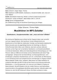 Musikhören im MP3-Zeitalter - Mediaculture online