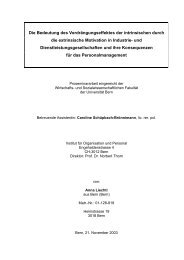 Die Bedeutung des Verdrängungseffektes der ... - Org-Portal.org