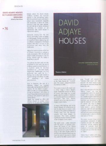 PDF (David Adjaye Houses)