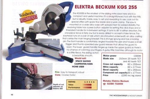 Verbazingwekkend ELEKTRA BECKUM KGS 255 - Metabo VW-47